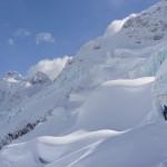 Big glaciers at Icefall Lodge