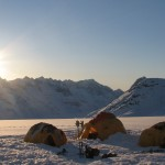 Basecamp near Kulusuk, Greenland with Sherpas Cinema shooting for All.I.Can.