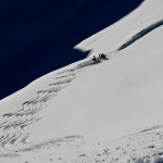 Waiting for pick up after a day of heli assisted ski touring
